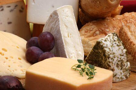 bandejas: plato de queso con algunos org�nico queso fresco
