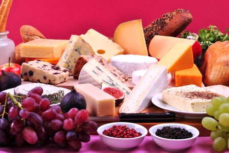 cheese platter: cheese platter with some organic fresh cheese