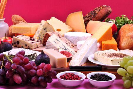 queso: plato de queso con algunos org�nico queso fresco