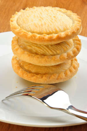 mince pie: home made mince pie on a plate Stock Photo