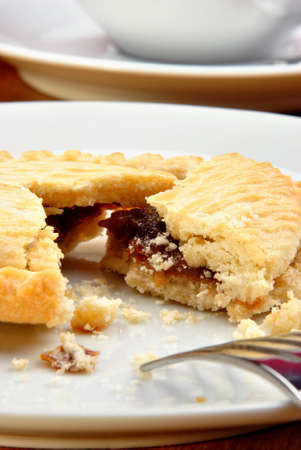 minced pie: home made mince pie on a plate Stock Photo
