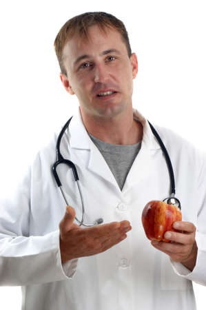 medical staff explains the benefits of fruit Stock Photo - 9894807