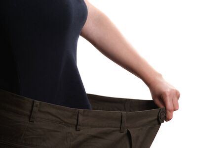 Pants that is much too large after weight loss photo