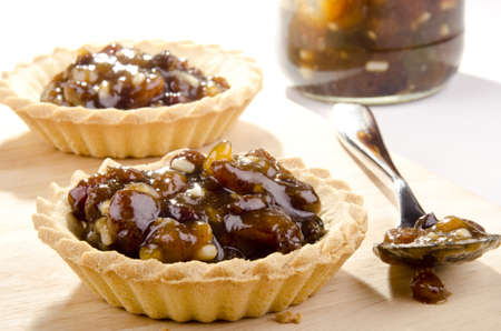 mincemeat: two pastry cases with home made mincemeat