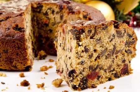 spicecake: reci�n horneado pastel de frutas de Navidad