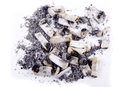 smoked and burned stump of filterless cigarettes and bright background Stock Photo - 11739581