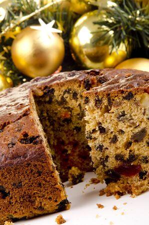 traditon: freshly baked Christmas fruit cake