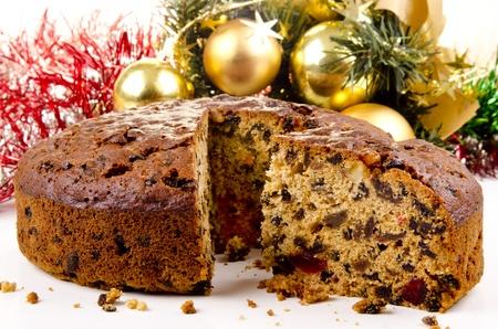spicecake: reci�n horneados pastel de frutas de Navidad