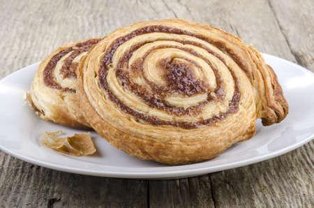 cinnamon swirl: cinnamon swirl on a white plate