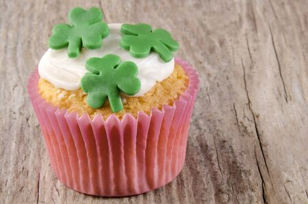 irish st patricks day cupcake with icing  photo