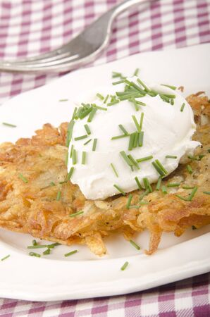hash: hash brown with soft cheese and dill