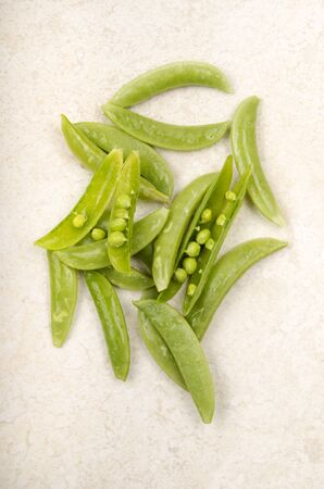 snaps: organic fresh and washed open sugar snaps