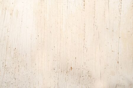 scarring: old rustic white wooden table surface with scarring Stock Photo