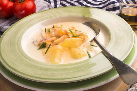 very scottish specialty cullen skink in a deep plate