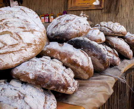 Delicious floury polish bread  Traditional baked  photo