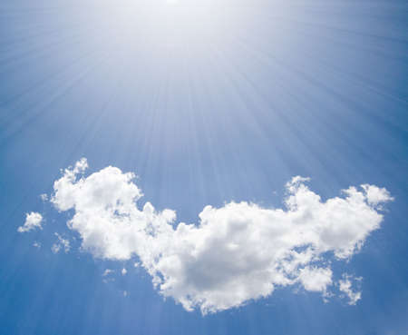 sunlight and puffy cloud photo