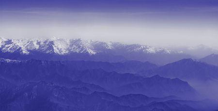 mountain range - tibet Stock Photo