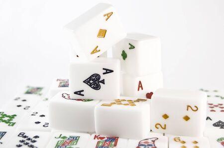 bloc: mahjong set Stock Photo
