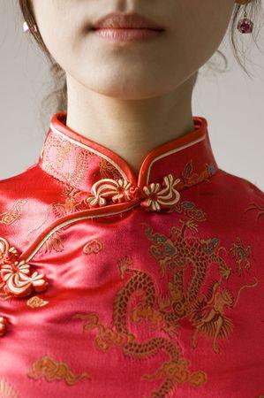 abstract chinese cheongsam costume photo