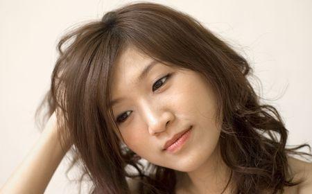 laziness: laziness, an asian women awake in morning