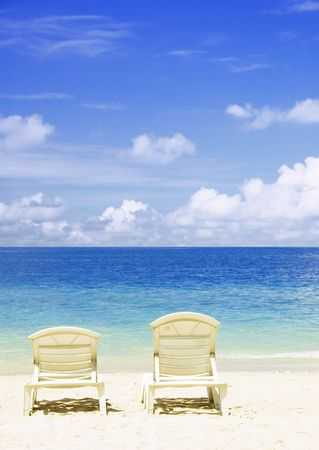 laze: concept photo of beach with chair