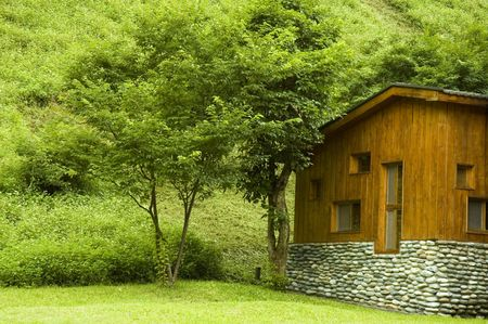 Wooden house at countryside Stock Photo - 3194752