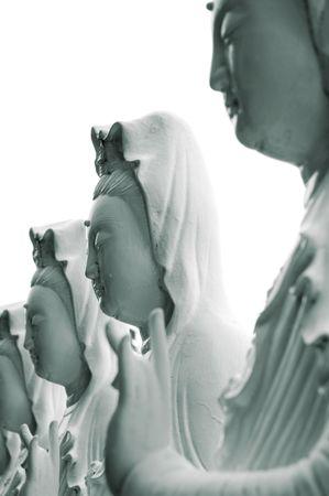 mindfulness: Guan yin standbeeld