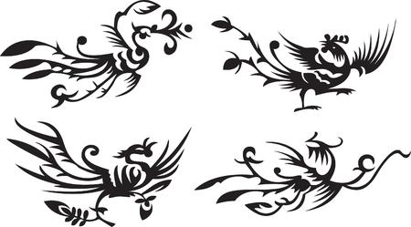 four asianchinese phoenixes