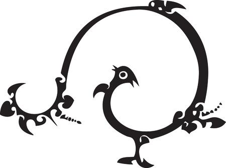 year of rooster: funny aves - chino tradicional de papel cortado
