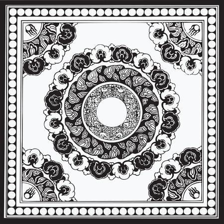 Traditional Floral Vector Design Vector