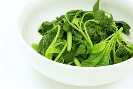 amaranth: Oil and salt free boiled amaranth vegetable