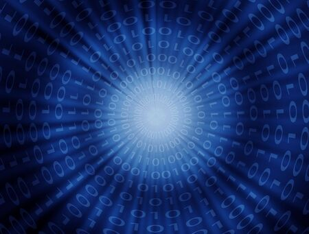 Abstract binary code concept background photo