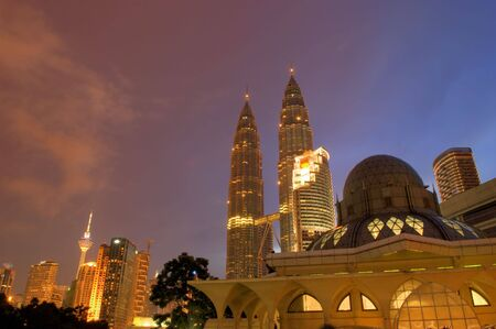 Famous Asy-Syakirin Mosque with Towers at the background, Kuala Lumpur, Malaysia photo