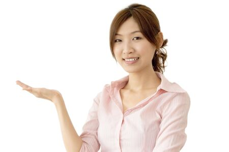 Holding hand young Asian business women photo