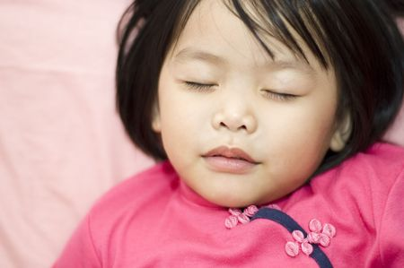 Sleeping child photo