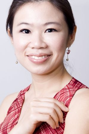 Portrait of a smiling asian Stock Photo - 4148995