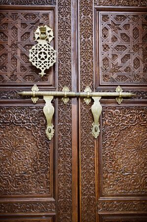 Islamic style door with details background photo