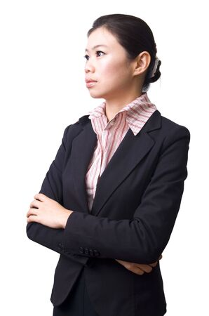 Crossed arms confidence Asian Business women  Stock Photo - 4390508