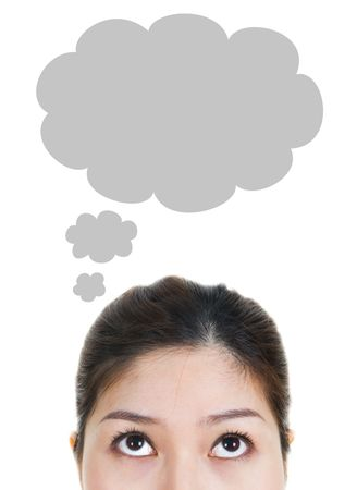 dream planning: Thought - Young Woman Having Thought Bubble