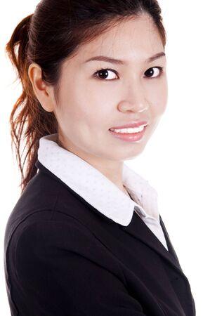 asian business women: Asian business women - Cheerful Asian business women isolated on white