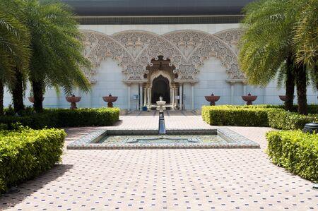 moroccan culture: Beautiful Moroccan Architecture Inner Garden in Putrajaya Malaysia