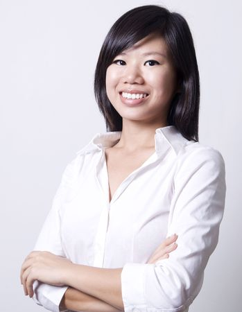 Asian Education / Business Woman profile with smiling face. Stock Photo - 4946450
