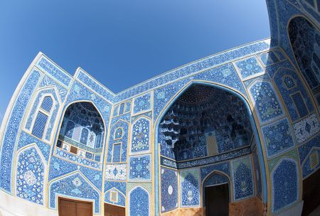 sheikh: Sheikh Lotf Allah Mosque in Isfahan in Iran.