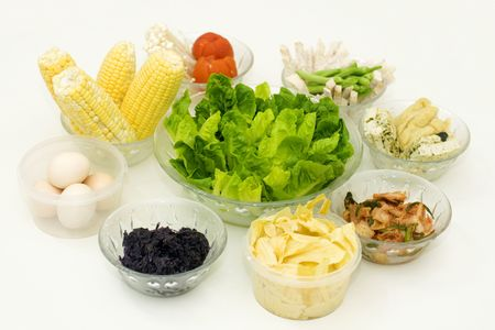 Fresh organic raw vegetables prepared for steamboat serving. Stock Photo - 5133021