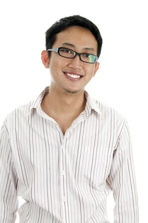 Young Asian executive with his smiling face. photo