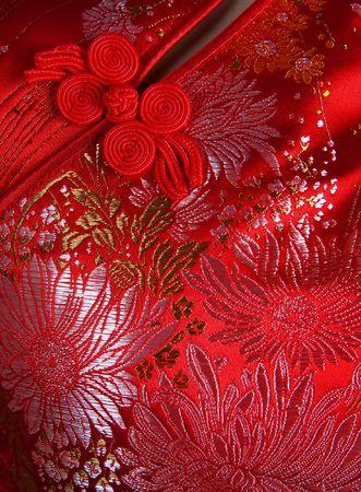 flores chinas: Closeup cheongsam orientales, se centran en el bot�n. Foto de archivo