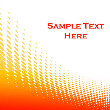 Background with orange circles and blank space. Stock Photo - 5183025