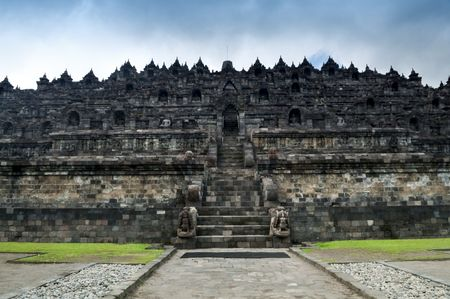 Borobudur Ruins at Yogyakarta, Central Java, Indonesia. photo