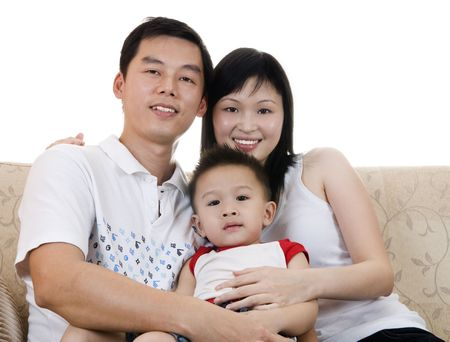 Happy Asian young father, mother and son. Stock Photo - 5177944