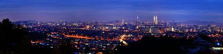 kuala lumpur city: Panorama view of Kuala Lumpur, capital city of Malaysia. Stock Photo